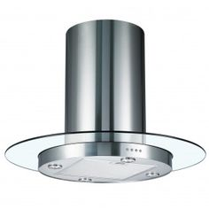 Cookology Round Glass & Stainless Steel Chimney Modern Cooker Hood from Tesco Island Extractor Hoods, Island Cooker Hoods, Kitchen Extractor Fan, Extractor Fans, Island Hood, Cooker Hood Filters, Chimney Cooker Hoods, Kitchen Cooker, Kitchen Seating