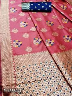 Multicoloured Silk Blend Saree with Blouse piece Trendy Fashion, Fashion Outfits, Designer Silk Sarees, Cotton Silk, Designer Wear, Types Of Fashion Styles, Quilts, Blouse, Collection