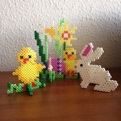 Easter ornaments hama perler beads by bymettes