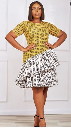Latest African Fashion Dresses, African Dresses For Women, African Print Fashion, African Wear, African Attire, New Dress Pattern, African Print Dress Designs, Classy Work Outfits, Africans