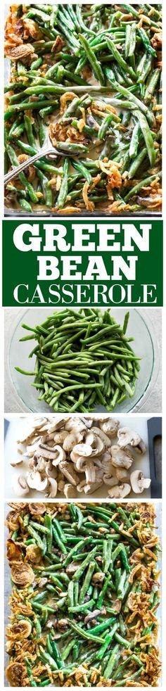 High maintenance healthier version of green bean casserole