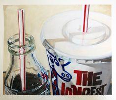 thirsty watercolour on paper 410mm x 345mm. by Matt Guild a New Zealand artist.