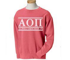 AOII Alpha Omicron Pi Classic Sorority Sweatshirt by BoutiqueGreek