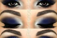 Amazing navy eye makeup