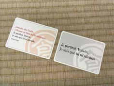 We are proud to introduce our Ogoola Karuta French version! Here is an example of a card using a quote from Victor Hugo's most famous poem. #victorhugo #karuta #chihayafuru #frenchkaruta #karutafrançais #hyakuninisshu #ogoolakaruta #ちはやふる #フランス語かるた #外国語かるた #百人一首 #小倉百人一首 Uppsala, Victor Hugo, Poetry Game, Most Famous Poems, Japanese Games, Version Francaise, Card Games, Language, English