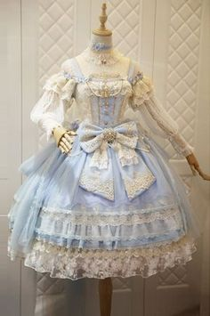 ✦Cheap Lolita Dresses✧: Gothic Lolita Dress, Jumpers and Pretty Outfits, Pretty Dresses, Beautiful Dresses, Kawaii Dress, Kawaii Clothes, Old Fashion Dresses, Fashion Outfits, Maxi Dresses, Fashion Trends