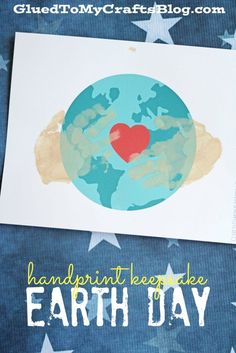 Earth Day Handprint Keepsake w/free printable template