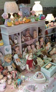 Vintage Sink, Pocket Pet, Doll Display, Cute Teddy Bears, Sugar Art, Craft Fairs, Rabbit, Bunny, Baby Shower