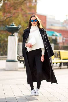 10 chic ways to style a winter coat.
