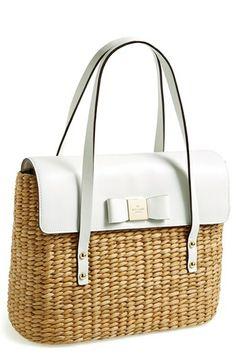 kate spade new york 'large via limoni luisa' satchel Girlie fun! Newspaper Basket, New York S, Smooth Leather, Purse Wallet, Bag Accessories, Clutches, Satchel, Kate Spade, Nordstrom