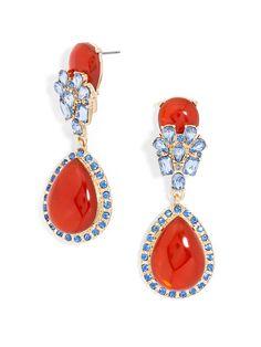 Jewel Swing Drops-Red