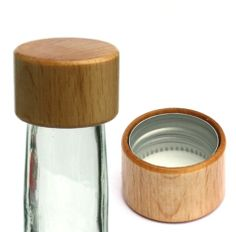 """Screw cap with thread """"wooden"""" Screw Caps, Bottle Stoppers, Lathe, Wood Turning, Glass Bottles, Wood Crafts, Carving, Woodworking, Accessories"""