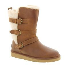 UGG? Becket ($225) ❤ liked on Polyvore featuring shoes, boots, ankle booties, ankle boots, chestnut, ugg australia, leather ankle bootie, genuine leather boots and leather booties