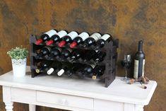 18 Bottle Large Modular Wine Rack Buy Online Australia | Modularack® Small Wine Racks, Wine Rack Design, Kitchen Benches, Perfect Place, Australia, Bottle, Decor, Decoration, Kitchen Bench Seating