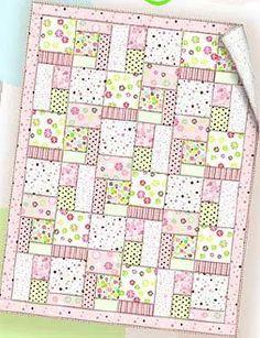 Essential Flannel Baby Quilt - Free PDF Pattern + The Self Binding Receiving Blanket Tutorial