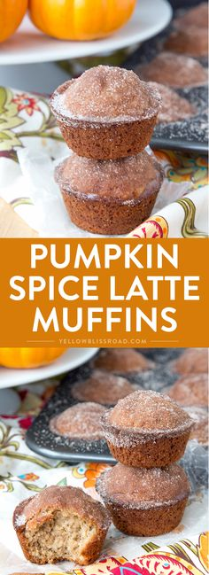 Pumpkin Spice Latte Muffins via @yellowblissroad