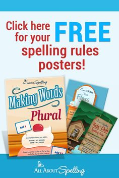 Grab your FREE colorful posters to help your child remember spelling rules! via All About Spelling