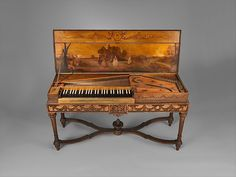 Clavichord Maker: Attributed to Christian Kintzing (German, Neuwied 1707–1804 Neuwied) Date: 1763 Geography: Neuwied, Germany Culture: German Medium: Wood, metal