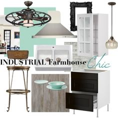 """Industrial Farmhouse Chic Kitchen"""