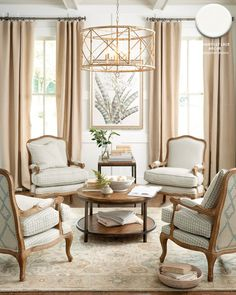 Living room with white walls in Benjamin Moore's Chantilly Lace