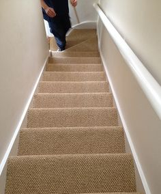 sisal to stairs | Sisal boucle` fitted to saircase | Premier Carpet & Flooring | Flickr