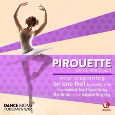 Dance word of the day brought to you by Dance Moms!