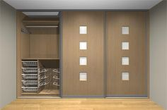 Women's fitted wardrobe interior storage