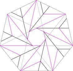 Heptagonal Flower Bowl Crease Pattern