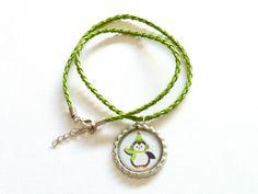 Penguin Necklace  Cute Gift for Birthday Girl  by splendorhoney, $7.60