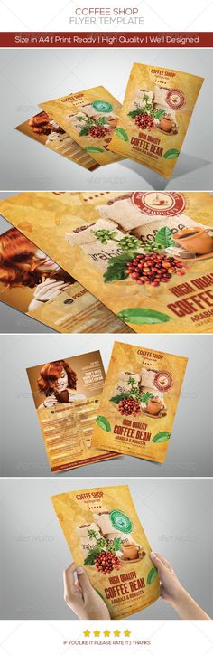 Coffee Flyers — Photoshop PSD #adverts #coffee • Available here → https://graphicriver.net/item/coffee-flyers/4124024?ref=pxcr