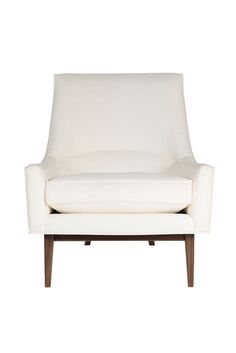 Buy Cedrick Walnut Base Lounge Chair - Lounge Chairs - Seating - Furniture - Dering Hall