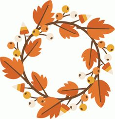 Silhouette Online Store - View Design #64238: fall wreath