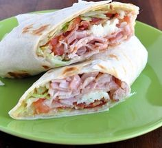 Turkey bacon club sandwich wrap