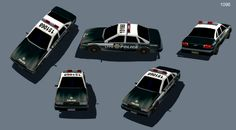Low poly cop car