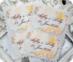 NEW  Personalized Shabby Flowers and Lace by LittlePaperFarmhouse, $11.95