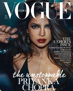 Priyanka Chopra looks simply too hot as she graces the cover page of Vogue India magazine September 2017 issue. - BTM A post shared by VOGUE India ( Magazine Front Cover, Vogue Magazine Covers, Fashion Magazine Cover, Fashion Cover, Magazine Cover Design, Vogue Covers, Actress Priyanka Chopra, Priyanka Chopra Hot, Vanity Fair