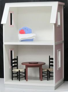 Buy the NEW My Dreamhouse dollhouse kit for 18 inch dolls, by Real Good Toys, and you'll automatically be entered to win this furniture.  Drawing to be held on December 4th.