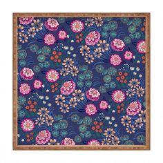 Pimlada Phuapradit Floral Gems Square Tray | DENY Designs Home Accessories