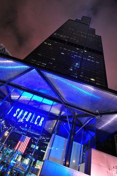 Willis Tower, Chicago Chicago Attractions, Shedd Aquarium, Fairfield Inn, Willis Tower, Adventure Travel, Skyscraper, Sweet Home, Scenery, Spaces
