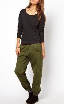 2c95811a7e G-Star Loose Cargo Trousers Green Khaki Pants