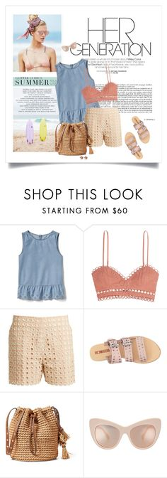 """June"" by sherry7411 ❤ liked on Polyvore featuring Beach Riot, Gap, Zimmermann, Chloé, Sol Sana, Allurez, eyelet, polyvoreeditorial, polyvorecontest and summer2017"