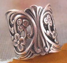 Filigree Finger Ring from Trinity Brass in by beadbarnsupplies, $4.50