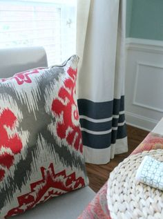 Turn a drop cloth into a curtain with this tutorial.