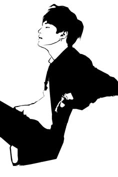 Model : Min Yoongi, Suga from BTS A Stencil FanArt 2014 by me