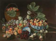 Giuseppe Ruoppolo - Still life with peaches figs...