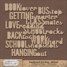 Cardboard Cut Outs - School