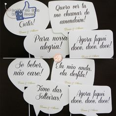 13 662 casamento baloes de fala placas divertidas placa pensamento placa pista 11 Casamento | Denise & Aluisio
