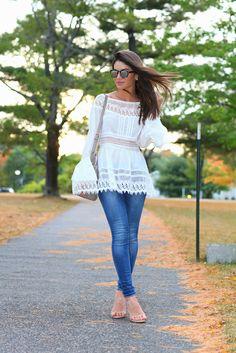 Super Vaidosa » Look do dia: Bata, renda & jeans!