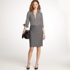 In-box skirt in Super 120s