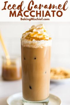 This Iced Caramel Macchiato is perfect for summer and made with a quick homemade caramel sauce that is super easy to throw together. Caramel Iced Coffee Recipe, Homemade Iced Coffee, Ice Caramel Macchiato, Iced Coffee At Home, Best Iced Coffee, Iced Coffee Drinks, Coffee Drink Recipes, Starbucks Recipes, Coffee Coffee